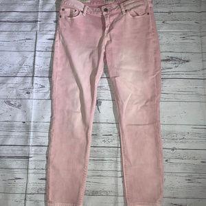 Lucky Brand Lolita Capri Pink Jeans Sz 8/29